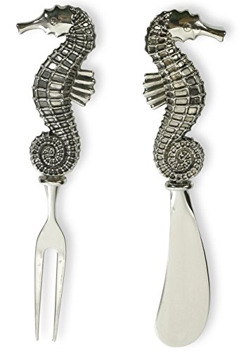 Celebrate the Home Stainless Steel Fork and Spreader, Seahorse, 2-Piece Set