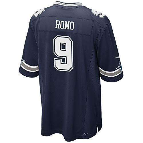 Dallas Cowboys Mens NFL Nike Game Jersey, Tony Romo, X-Large, Navy (Best Player On The Cowboys)
