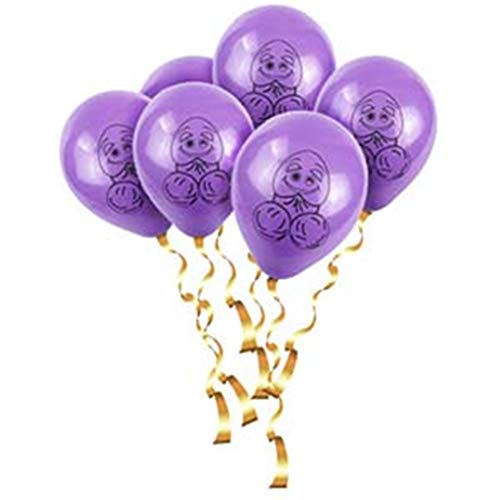Weeball 10Pcs Yay Same Penis Forever Alphabet Balloons Bachelorette Party Decoration Adult Party Bride to Be Decoration Letter Ballon Purple Black 10inch