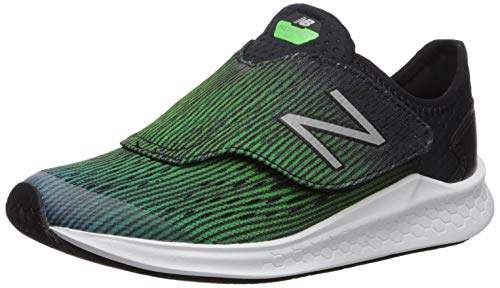 New Balance Boys' Fast V1 Running Shoe, DEEP Ozone Blue/RGB Green/Black, 3 W US Little Kid