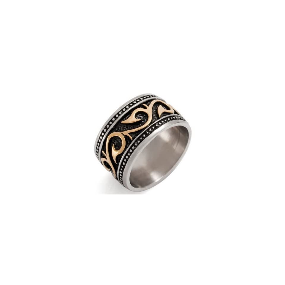UNIQUE MEN Stainless Steel Ring VINTAGE Size 12 Justeel