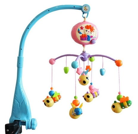 Baby Boy & Girl Bedding Crib Musical Mobile with Hanging Rotating Soft Colorful Plush Dolls Horse Adorable Characters Electric Music Box 12 melodies (Number 2) by thitiwat