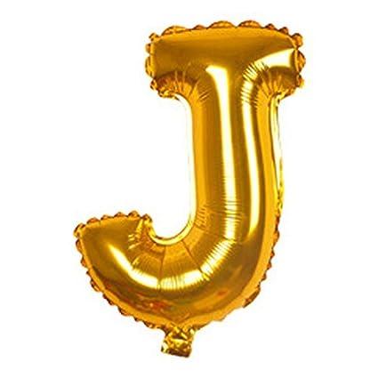eDealMax Festival de Aniversario de la letra J del Partido de Helio Globo de la hoja