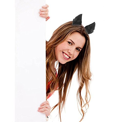 Ew Costume (Fashion Charming Women Lady Cosplay Party Cat Ear Hair Clip Party Costume EW)