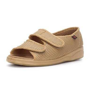Cómodo y elegante soporte de zapatos de las mujeres pisos comodidad de primavera/verano/otoño//Pisos/de tul y punta redonda Casual talón plano Magic cinta negro