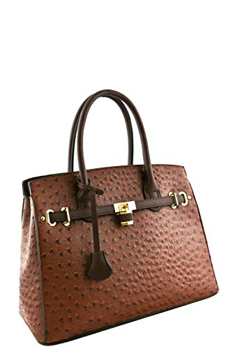 womens-designer-faux-leather-ostrich-padlock-top-handle-bag-va2013-coffee