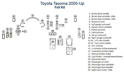 Toyota Tacoma Full Dash Trim Kit - Walnut ()