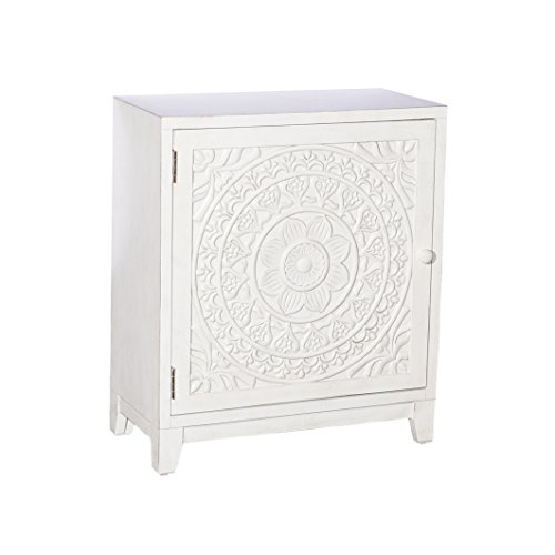 Powell's Furniture 16A8246SC Grace, Antique White Cabinet, ()