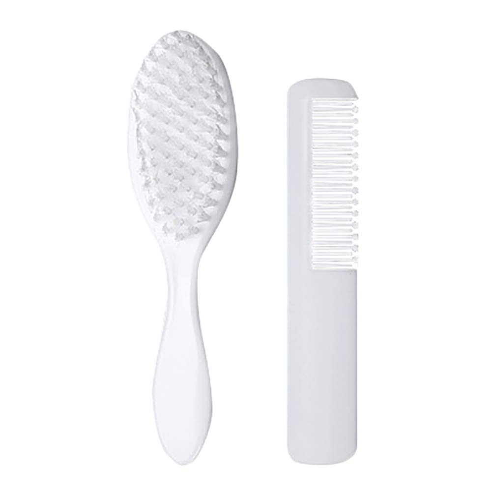 2pcs Baby Comb and Brush Set Kids Hair Care Soft Hairbrush Head Massager