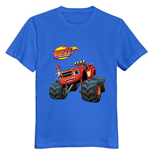 YWT Blaze And The Monster Machines Men T Shirts Normal Fit Fashion Black