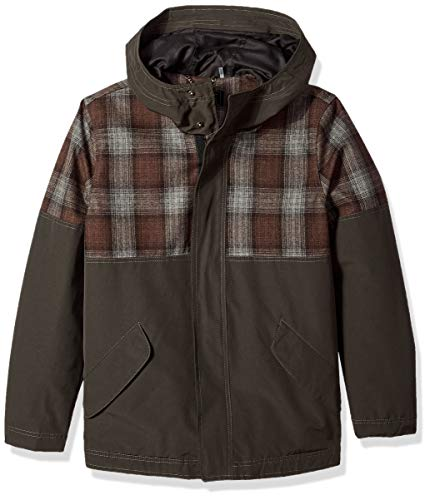 Pendleton Outerwear Men's Carver Mount Hood Flannel Wool Hoodie Jacket, Pendleton Iconic Blue/Brown Plaid, Medium ()