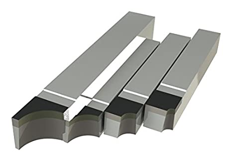 Concave Radius Style RAD Micro 100 RAD-12 Brazed Tool Tip Dimension of 1//8 Thick 3//8 Radius 1//2 Length Tool Dimension of 3.5 Length 1//2 Width 1//2 Height Right Hand Square Shank Diameter