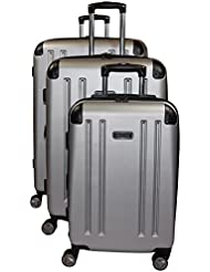 Kenneth Cole Reaction 8 Wheelin Expandable Luggage Spinner Wheeled Suitcase, 3 Pc Set , 29, 25 & 20-inch