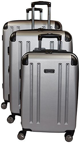 29 Large Duffel Wheeled (Kenneth Cole Reaction 8 Wheelin Expandable Luggage Spinner Wheeled Suitcase, 3 Pc Set , 29, 25 & 20-inch (Light Silver))