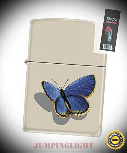 216 Butterfly Barrett Smythe Collection Rare Lighter with Flint Pack - Premium Lighter Fluid (Comes Unfilled) - Made in USA!