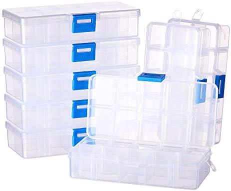 BENECREAT 8 Pack 10 Compartimientos Caja Ajustable de Plástico ...
