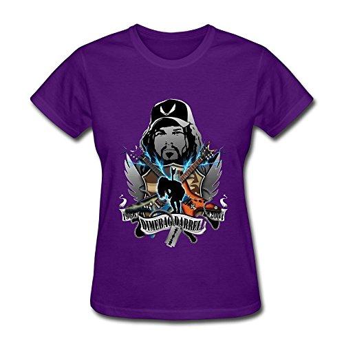 - Oyavdsznq Womens Dimebagdarrel 2004 Fashion Running Purple T-Shirts XL Short Sleeve