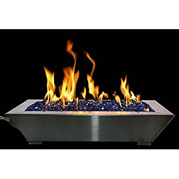 amazon com american fireglass stainless steel drop in fire pit