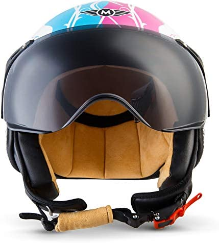 Sun Visor /· incl Cloth Bag /· Black /· L 59-60cm MOTO H44 Matt Black /· Jet-Helmet Bobber Mofa Moto-Helmet Biker Vespa-Helmet Pilot Vintage Scooter-Helmet Cruiser Chopper Retro /· ECE certified /· incl