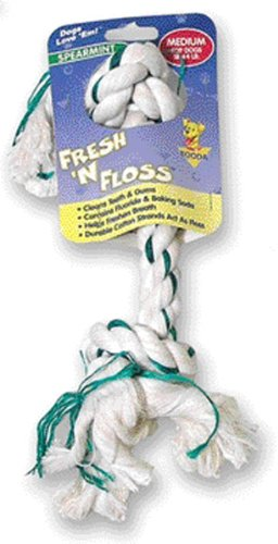Rope Floss - Booda Fresh N Floss 2-Knot Rope Bone Spearmint Medium