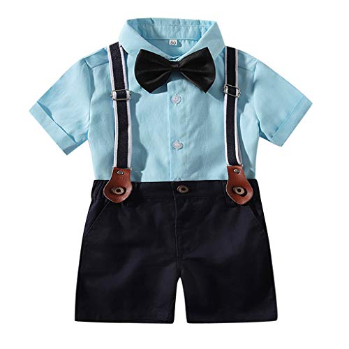 Boy Suitcases for Kids,Londony ❤ღ♕ Newborn Baby Boys Gentleman Clothes Rompers Small Suit Bodysuit Outfit with Bow Tie