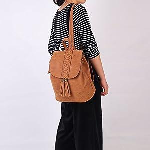 Zaino Donna,Bohemian Girls Rucksack Ricamato Fashion PU morbido per viaggiare Shopping Holiday Party Partito