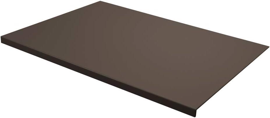 Talia Eglooh Made in Italy Sottomano Scrivania Ufficio in Cuoio Beige cm 50x35 Design Moderno Resistente Struttura in Acciaio con Profilo a L Fondo Antiscivolo