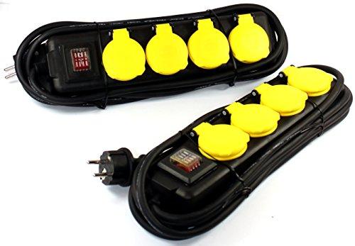 Steckdosenleiste 4er für Außen Outdoor Steckdosenverteiler Steckdose 551 (1 Stück)