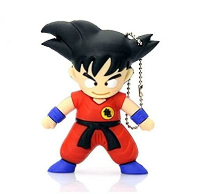 Sandios 8GB Design Data Travel USB 2.0 Flash Drives Memory Stick Pen Thumb Drive - Japanese Anime Cartoon Dragon Ball Z Super Saiyan God Son Goku Goten Children Kids Christmas Birthday Toy Gifts [1pc]