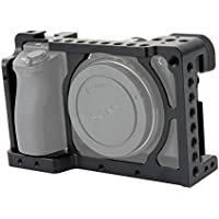 NICEYRIG Aluminum Camera Cage for Sony A6300/ILCE-6300 A6000/ILCE-6000 with 1/4 Thread and Cold Shoe