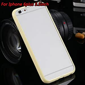 Clear Ultra Thin Tpu + Pc Soft Matt Transparent Case For Iphone 6 6S 4.7 Inch & 6 6S Plus 5.5'' Original Candy Cute Cover-Yellow For 6Plus