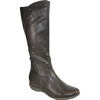 Amazon.com   KOZI Women Flat Boot SD3413W Fur Lined Winter