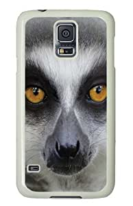Big Face Ring Tailed Lemur Custom Samsung Galaxy S5/Samsung S5 Case Cover Polycarbonate White by runtopwell