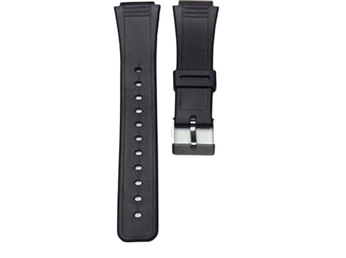 Amazon.com: Compatible Casio AQ-47 25 mm. negro reloj correa ...