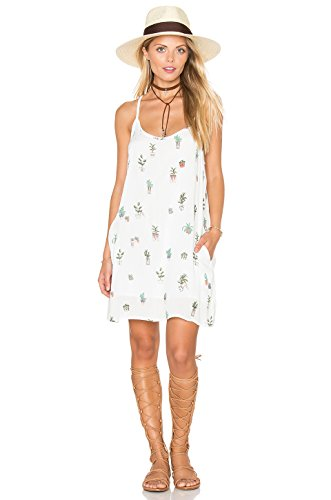 Obey Womens Dress - Obey Women's Paint Bloom Dress White Multi Dress