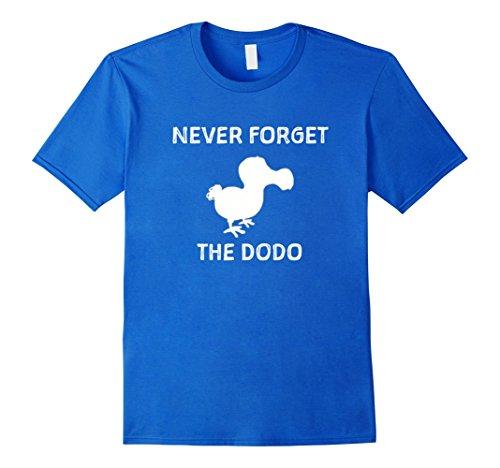[Mens Funny Never Forget The Dodo Shirt extinct flightless bird 2XL Royal Blue] (Dodo Bird Costume)