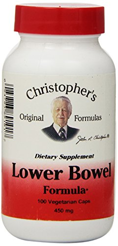 Dr. Christopher's Original Formulas Lower Bowel Formula Capsules, 100 Count