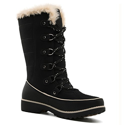 Women's Winter Win Trek Fur Global 1729black Boots H8fq5K