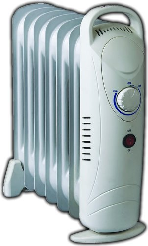ebad64c59ef 7 Fin Compact Oil Filled Radiator 700W Thermostat Controlled  Amazon.co.uk   Kitchen   Home