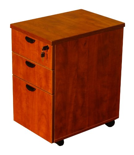 Boss Office Products N148H-C Mobile Pedestal in Cherry