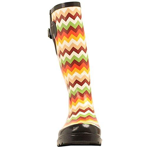 Leanne Chevron Boots WESTERN M amp;F Womens Leg Ladies 8 Size Round RAIN Toe 0wwqxZY
