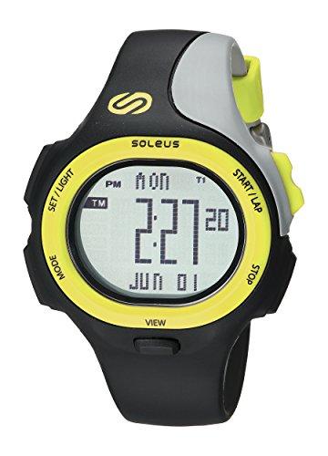 SoleusAir Men's SR008052 P.R. Grey Digital Dial with Blac...