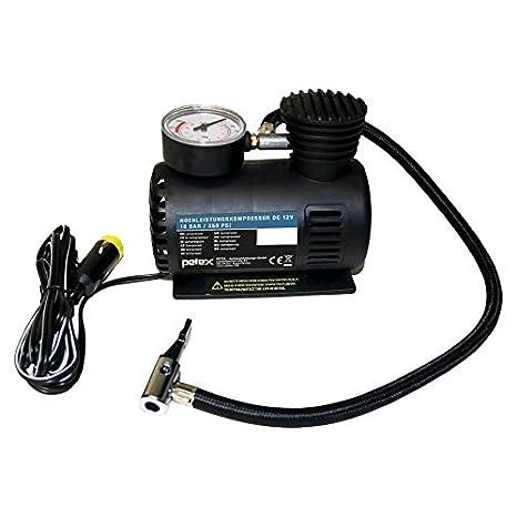 Petex 445110 Compresor De Aire 12 V, 18 Bar, Incluye 3 Piezas. Juego de adaptadores: Amazon.es: Coche y moto