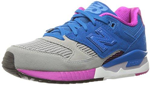 New Balance Womens W530 Classic Running Fashion Sneaker Grijs / Sonarblauw / Azalea