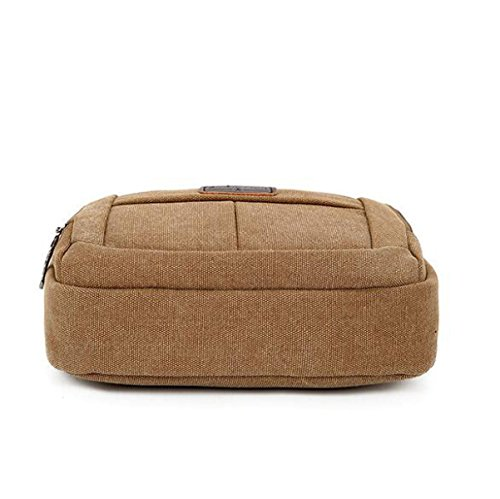 Brown1 Paquete Lienzo Computer Bag Hombres Omitir Casual Ombro Casual wZW8Opq