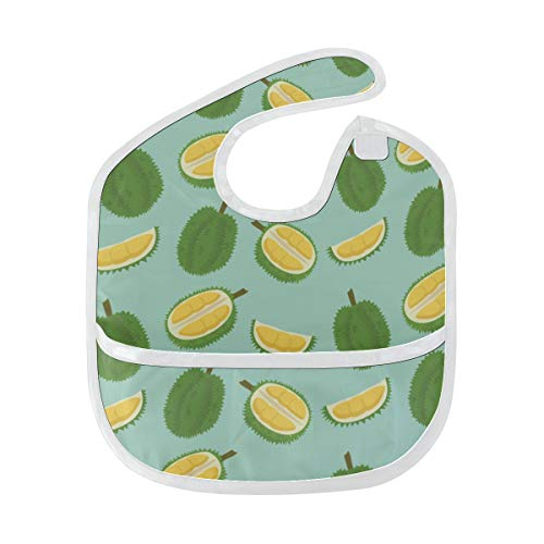 Price comparison product image Kids Bibs Girls Yellow Summer Cool Fruit Durian Custom Soft Stain Baby Feeding Dribble Drool Bibs Burp For Infant 6-24 Months Baby Proof Bibs