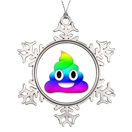Tree Branch Decoration Rainbow Poop Emoji Christmas Trees Decoration