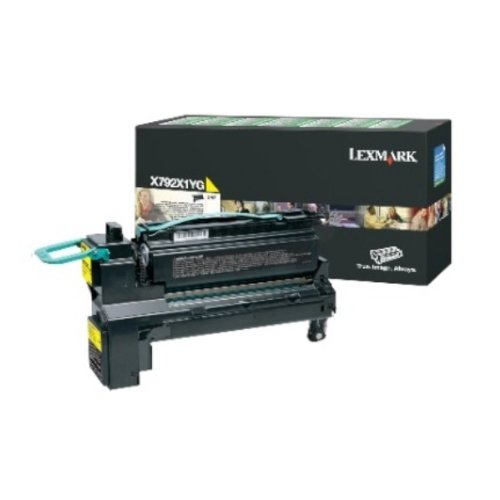 Lexmark X792X1YG Extra High-Yield Toner, Yellow - in Retail Packaging