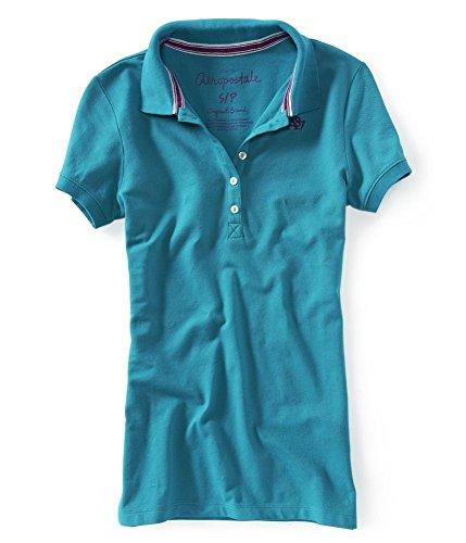 Aeropostale Womens A87 5 Button Polo Shirt 160 ()