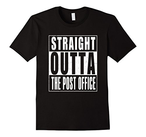 Mens Straight Outta The Post Office T Shirt Us Postal Service Xl Black